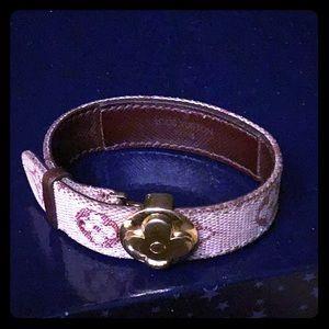Louis Vuitton Leather/Canvas Monogram Bracelet